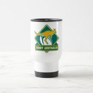 rugby australia kangaroo wallaby coffee mugs