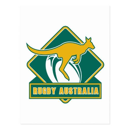 rugby australia kangaroo wallaby postcard
