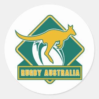 rugby australia kangaroo wallaby round stickers