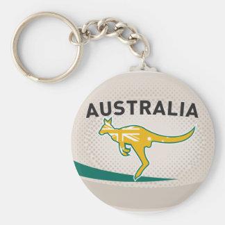 Rugby Ball Australia kangaroo wallaby Keychain