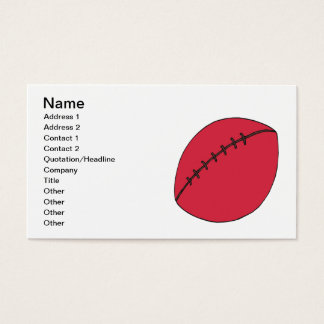 Rugby Ball Business Card