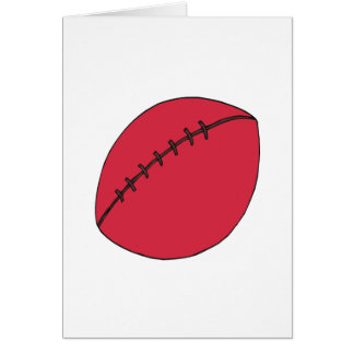 Rugby Ball Greeting Cards