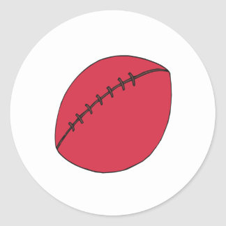 Rugby Ball Classic Round Sticker