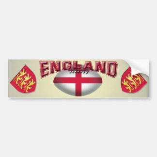 Rugby Ball Flag of England Bumper Stickers