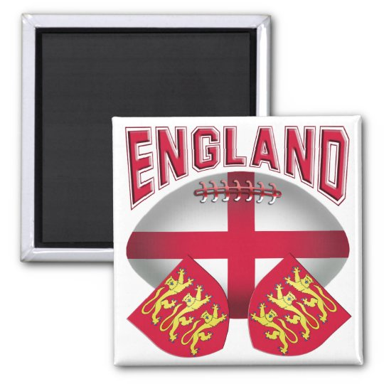 Rugby Ball Flag of England Magnet