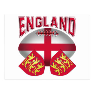 Rugby Ball Flag of England Postcards