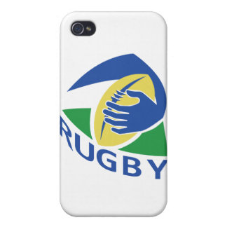 rugby ball hand holding cases for iPhone 4