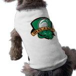 rugby ball ireland shield shamrock dog t-shirt