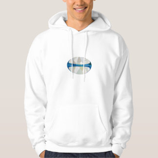 Rugby Ball Isolated Low Polygon Hoodie