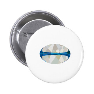 Rugby Ball Isolated Low Polygon Pinback Button