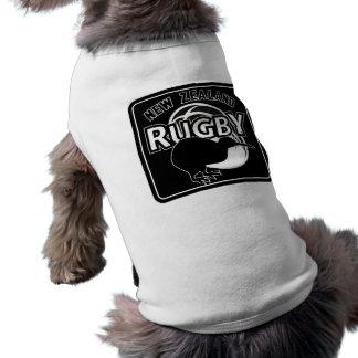 rugby ball kiwi new zealand all black pet shirt