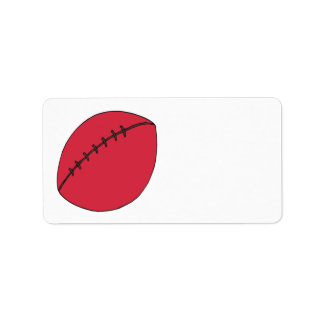 Rugby Ball Custom Address Labels