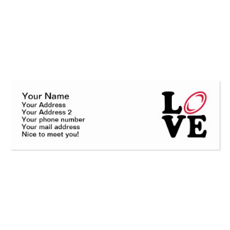 Rugby ball love Double-Sided mini business cards (Pack of 20)