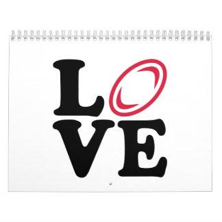 Rugby ball love calendar