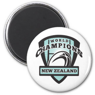 Rugby ball New Zealand World Champions 2 Inch Round Magnet