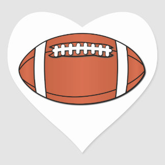 Rugby Ball NO Text Heart Sticker