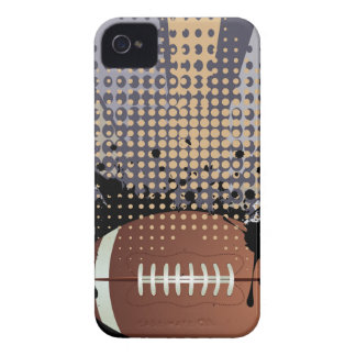 Rugby Ball on Rays Background iPhone 4 Case-Mate Case