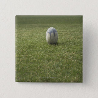 Rugby ball pinback button