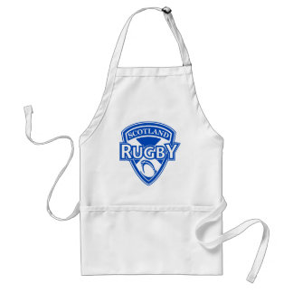 rugby ball shield scotland flag adult apron