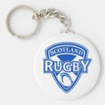 rugby ball shield scotland flag key chains