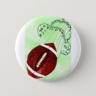 Rugby Ball Sketch3 Button