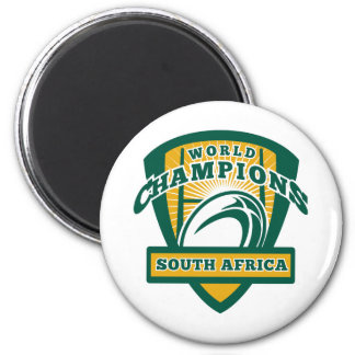 Rugby ball South Africa World Champions 2 Inch Round Magnet