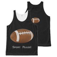 Rugby Ball | Sport Fan Gifts All-Over Print Tank Top