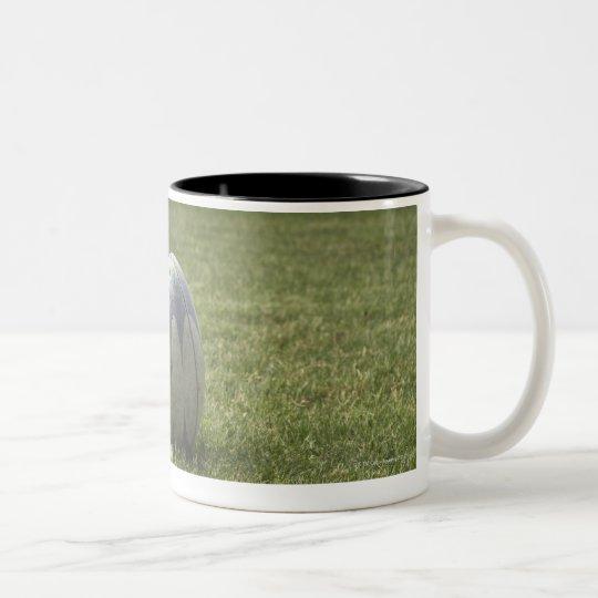 Rugby ball Two-Tone coffee mug