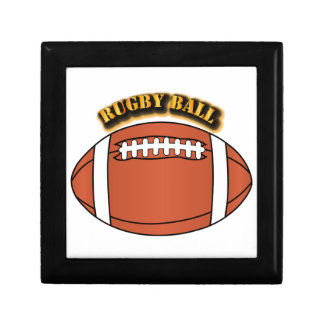 Rugby Ball with Text Jewelry Box