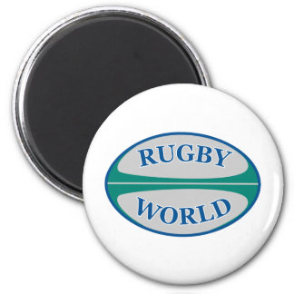 rugby ball world 2 inch round magnet