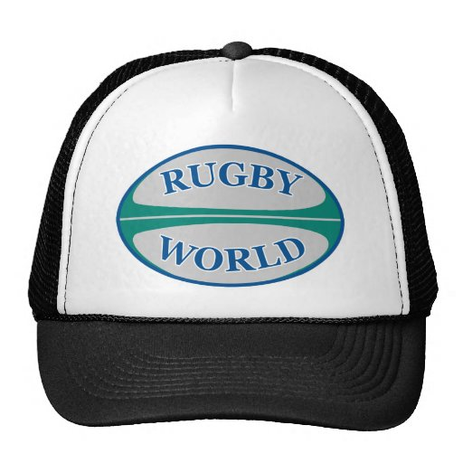 rugby ball world mesh hat