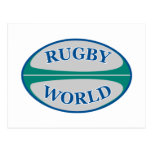 rugby ball world post card