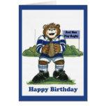 Rugby Birthday Card