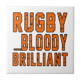 Rugby Bloody Brilliant Small Square Tile