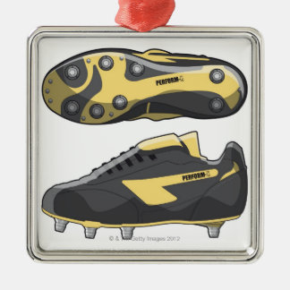 Rugby boots metal ornament