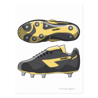 Rugby boots postcard