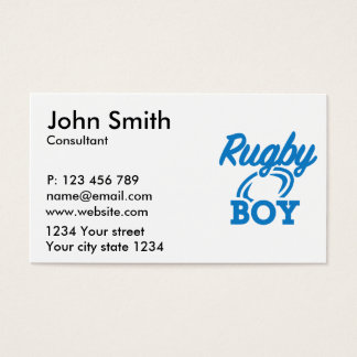 Rugby boy business card
