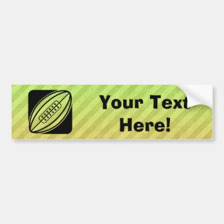 Rugby Car Bumper Sticker