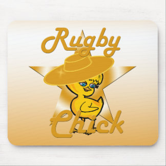 Rugby Chick #10 Mouse Pad