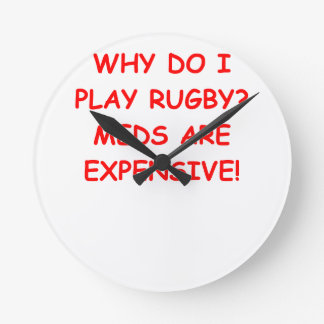 RUGBY ROUND WALL CLOCKS