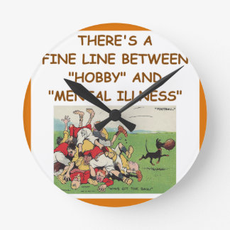RUGBY ROUND WALL CLOCK