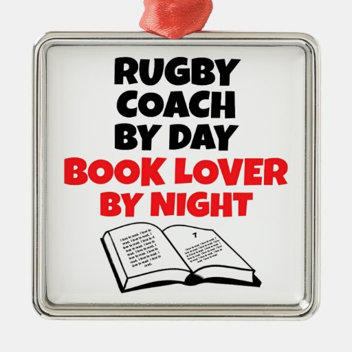 Rugby Coach Book Lover Christmas Tree Ornament
