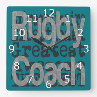 Rugby Coach Extraordinaire Square Wall Clock