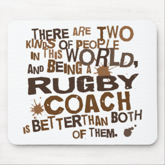 Rugby Coach Gift Mouse Pads