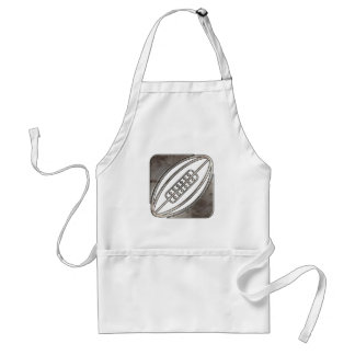 Rugby; Cool Black Adult Apron