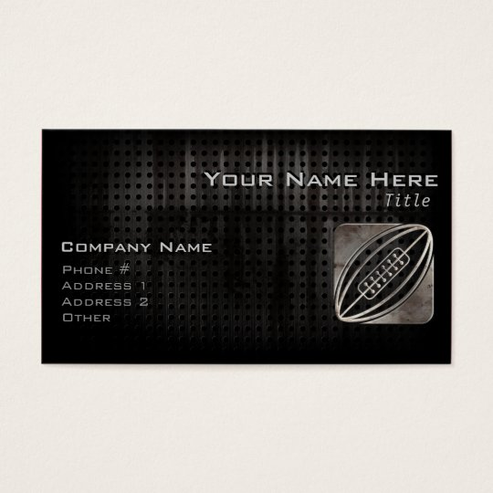 Rugby; Cool Black Business Card