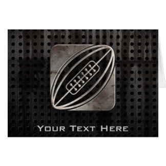 Rugby; Cool Black Greeting Card