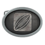 Rugby; Cool Black Oval Belt Buckles