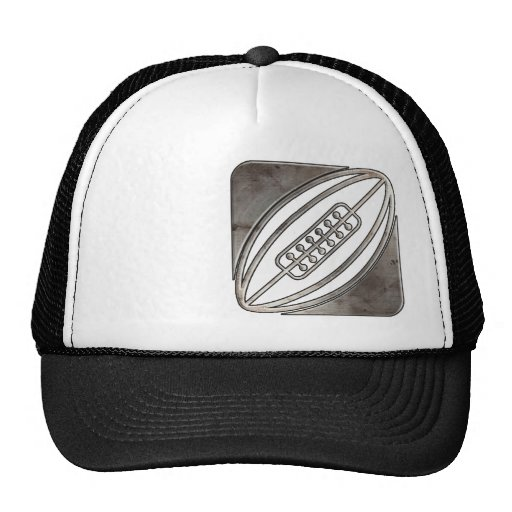 Rugby; Cool Black Trucker Hat