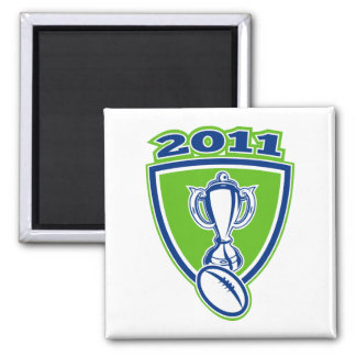 Rugby Cup 2011 shield 2 Inch Square Magnet